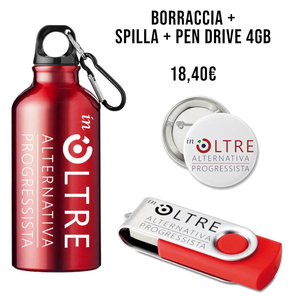 Gadget Associazione - Borraccia + Spilla + Pen Drive ...